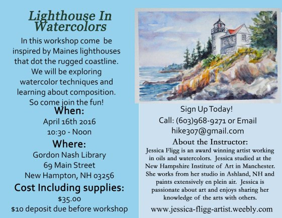 Lighthouses in watercolors workshop